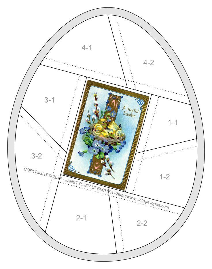 A Joyful Easter Crazy Quilt Block – FREE – March 2018 – Download the pattern for A Joyful Easter Crazy Quilt Block designed by Janet Stauffacher.
