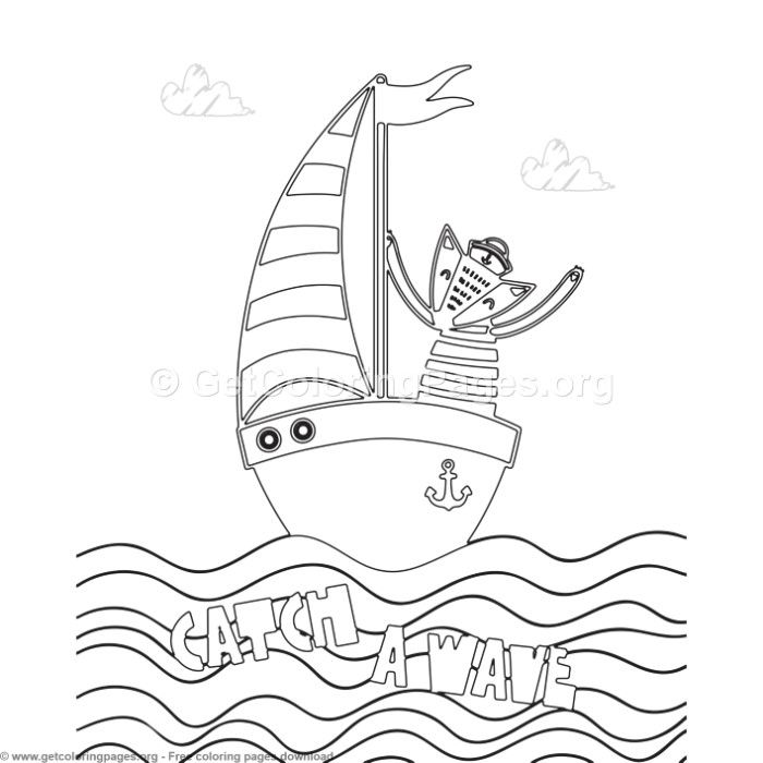 Catch a Wave Coloring Pages - GetColoringPages.org # ...