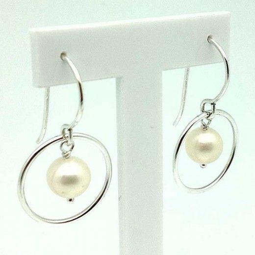 Pendientes Perla Cultivada / Sterling Silver EarRings