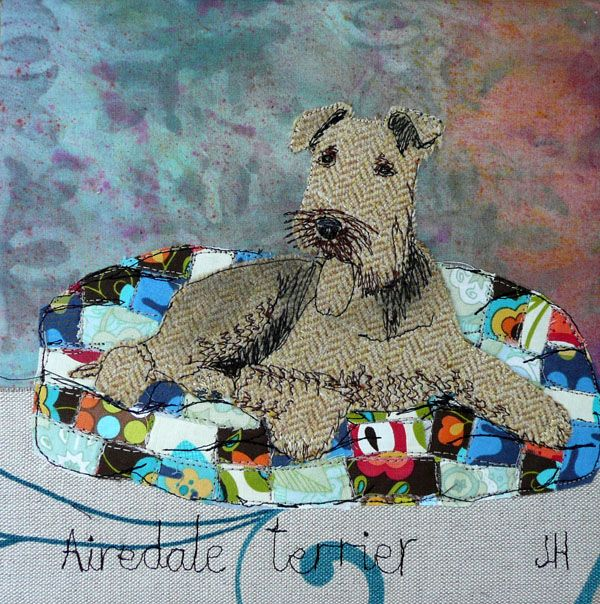Airedale terrier- Jo Hill Interior Textiles