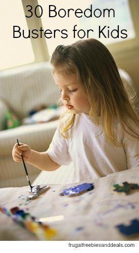 30 ideas www frugalfreebiesanddeals com 30 boredom busters for kids