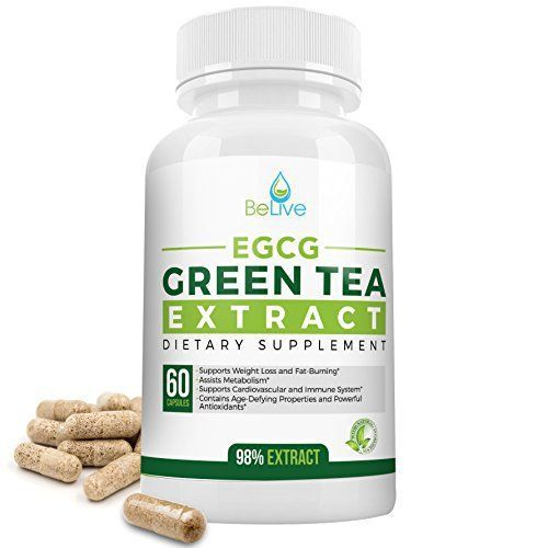 Product review for Green Tea Supplement EGCG Belly Fat Burner Weight Loss Pills for Women and Men - Anti-Aging - Boost Metabolism & Better Heart System - Pre Workout + Natural Energy - Detox Cleanse By BeLive -  Reviews of Green Tea Supplement EGCG Belly