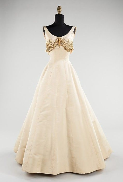 1954: James Of Arci, Evening Dresses, 1950S, Evening Gowns, Charles James, 1950 S, Dresses Charles, Metropolitan Museums, Vintage Clothing
