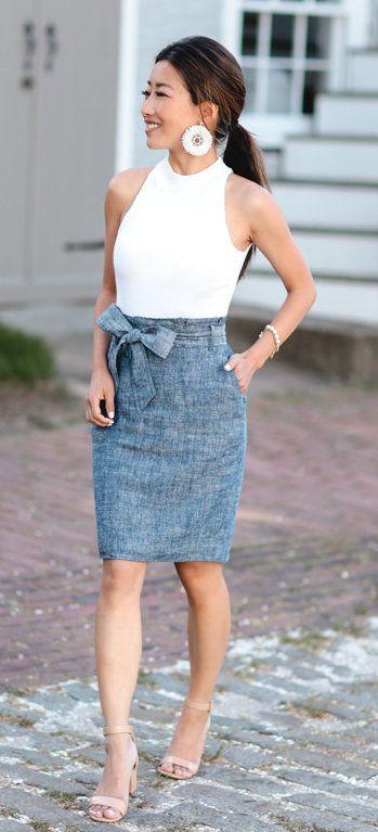 Best 25  Pencil skirt outfits ideas on Pinterest | Pencil skirts ...