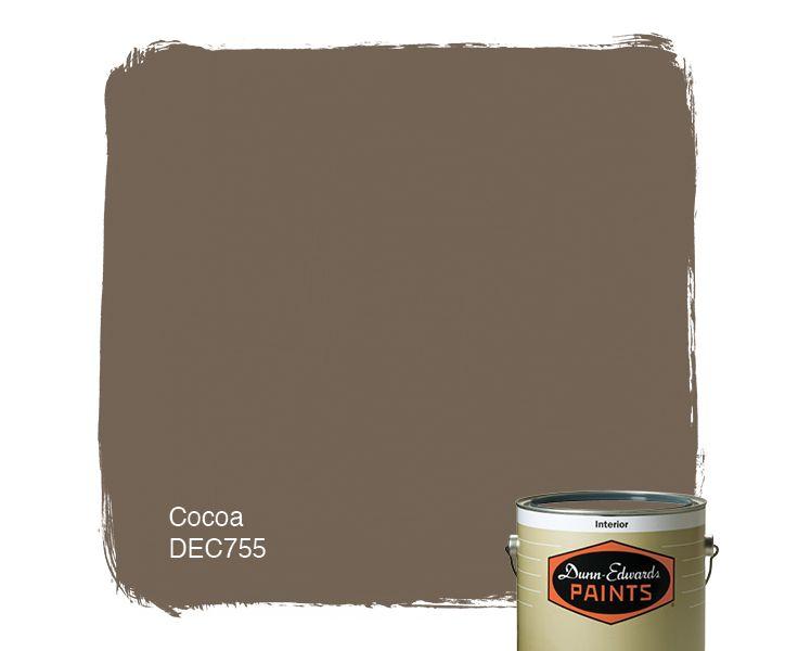 Dunn Edwards Exterior Paint #21: Dunn-Edwards Paints Paint Color: Cocoa DEC755 | Click For A Free Color Sample