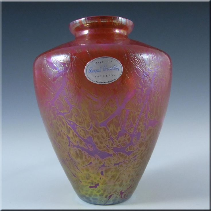 Royal Brierley Iridescent Glass 'Studio' Vase - Marked #1 - £30.00