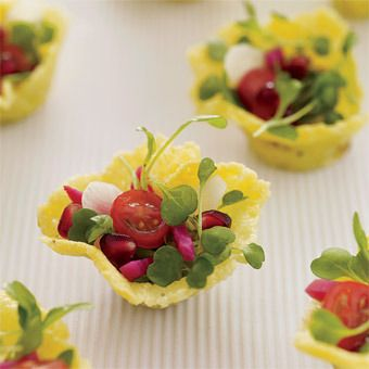 these little fun parmesan cups turn out just adorable, they make cute little salad bites :-)