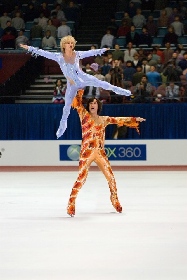 Still of Will Ferrell and Jon Heder in Blades of Glory. This movie was so funny.