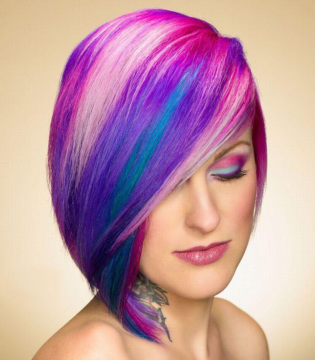Rainbow Brite 2.0: 24 Colorful Hairstyles You'll Love via Brit + Co.