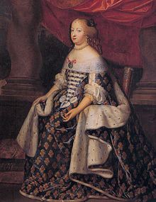 Official portrait of Maria Theresa as Queen of France, by Charles Beaubrun