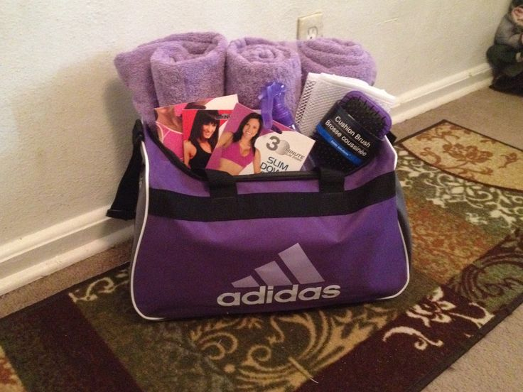 Exercise and gym gift basket for Christmas or any other celebration!