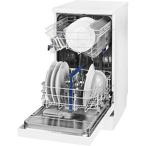 Buy Beko DFS05010W Freestanding Slimline Dishwasher, White Online at johnlewis.com