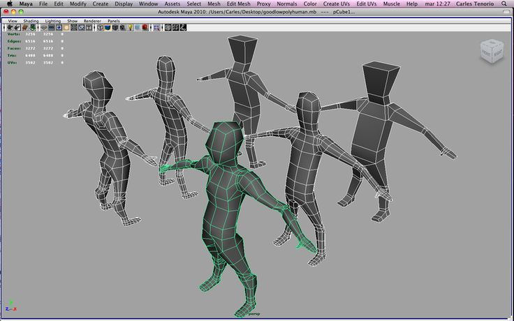 WiP human low-poly by CarlesTenorio on deviantART