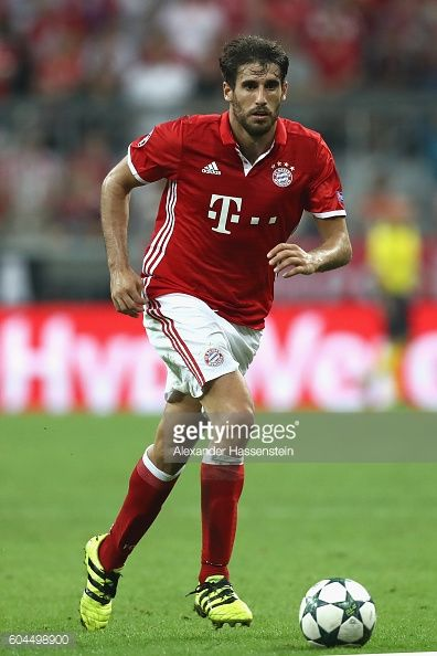 Javi Martinez of Muenchen runs with the ball during the UEFA Champions League Group D match between FC Bayern Muenchen and FC Rostov at Allianz Arena...