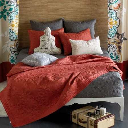 Grey And Coral Bedding My New Apartment Pinterest Shops Home And Coral