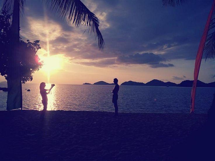 Beautiful sunset in Labuan Bajo