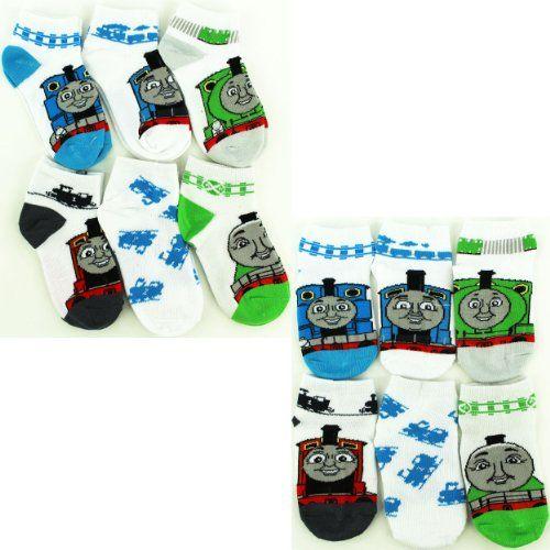 Thomas the Tank Infant Toddler 6 pk Ankle Socks (4T-6T) Hit Entertainment http://www.amazon.com/dp/B00KAH5GWU/ref=cm_sw_r_pi_dp_QdkJtb1WP5674KT0