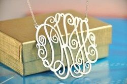 love these!Graduation Gift, Monograms Sterling, Monograms Necklaces, Anniversaries Gift, Lacey Necklaces, 14K Gold, Marley Lilly, Sterling Silver, Gold Lacey