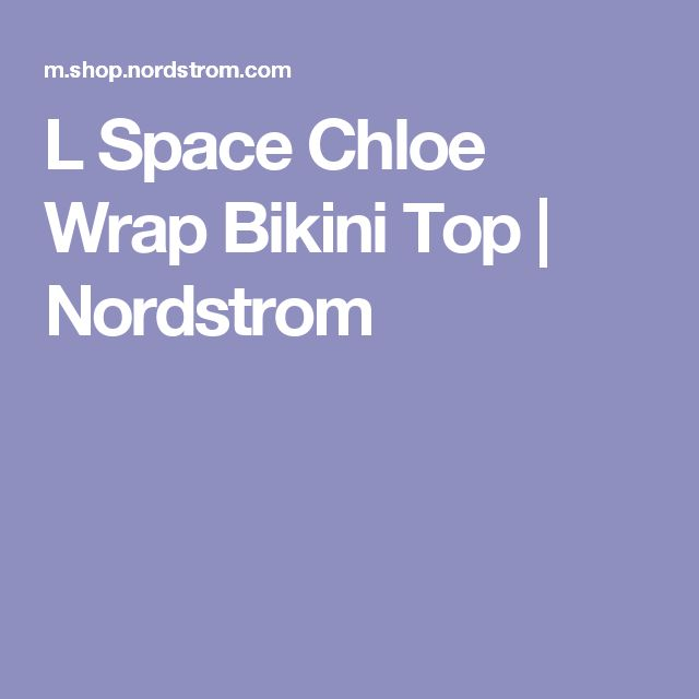 L Space Chloe Wrap Bikini Top   Nordstrom