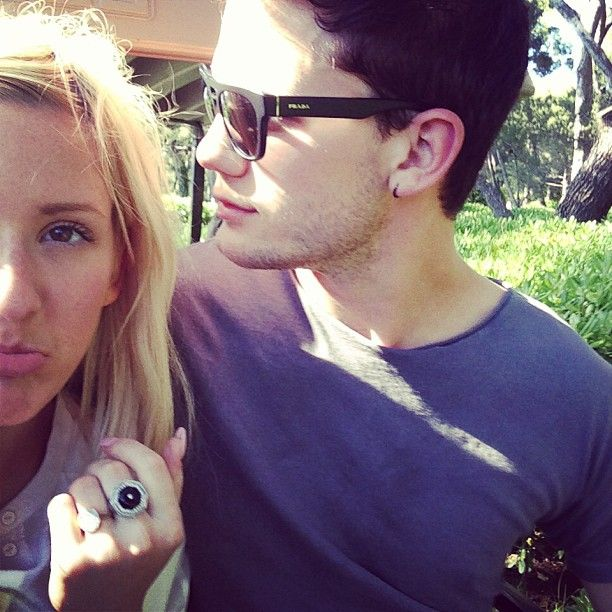 Ellie Goulding and boyfriend Jeremy Irvine colour ...  Ellie Goulding Jeremy Irvine
