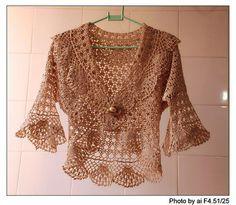 Beautiful lace bolero, free crochet patterns