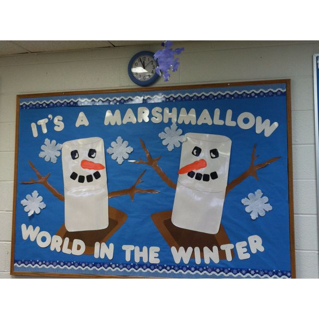 S'more Winter Fun (December  Big Bulletin Board For Winter)