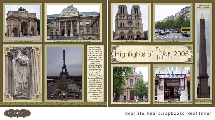 "CTMH Studio J Layout: ""Highlights of Paris 2005""; Kit: Sonoma; Pattern: Gallery Collection"