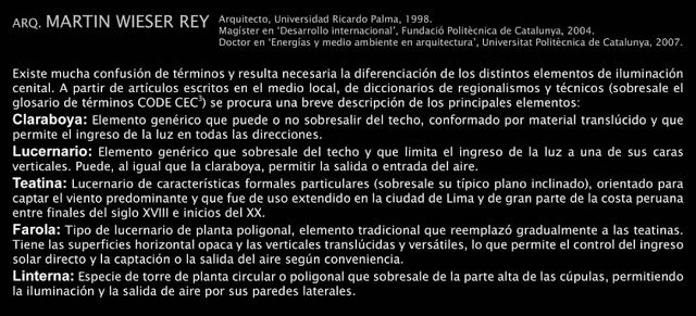 REVISTA DIGITAL APUNTES DE ARQUITECTURA: LA ILUMINACION CENITAL EN ARQUITECTURA - Arq. Martín Wieser Rey