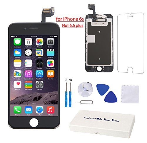 Coobetter iPhone 6s Screen Replacement LCD Touch Digitizer Display Full Assembly (Front Camera,Facing Proximity Sensor,Ear Speaker)with Repair Tools and Screen Protector for iPhone 6s  http://topcellulardeals.com/product/coobetter-iphone-6s-screen-replacement-lcd-touch-digitizer-display-full-assembly-front-camerafacing-proximity-sensorear-speakerwith-repair-tools-and-screen-protector-for-iphone-6s/  Compatibility: This iPhone 6s Screen is ONLY for iPhone 6s 4.7 inch all carri