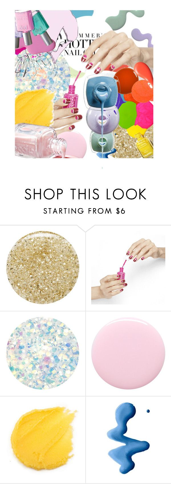 """Summer Nails"" by no-where-girl ❤ liked on Polyvore featuring beauty, Lancôme, Deborah Lippmann, Nails Inc. and Topshop"