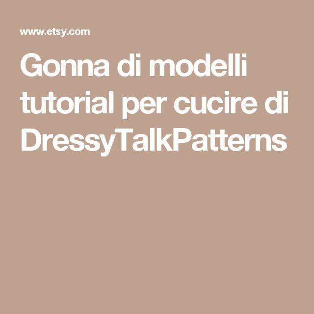 Gonna di modelli  tutorial per cucire  di DressyTalkPatterns