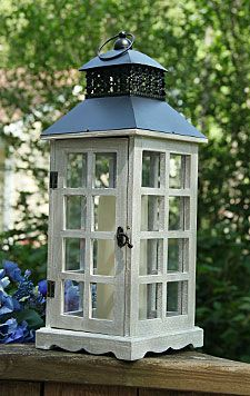 Check out the deal on 18.5 Inch Battery Operated Wood Paned Candle Lantern at Battery Operated Candles