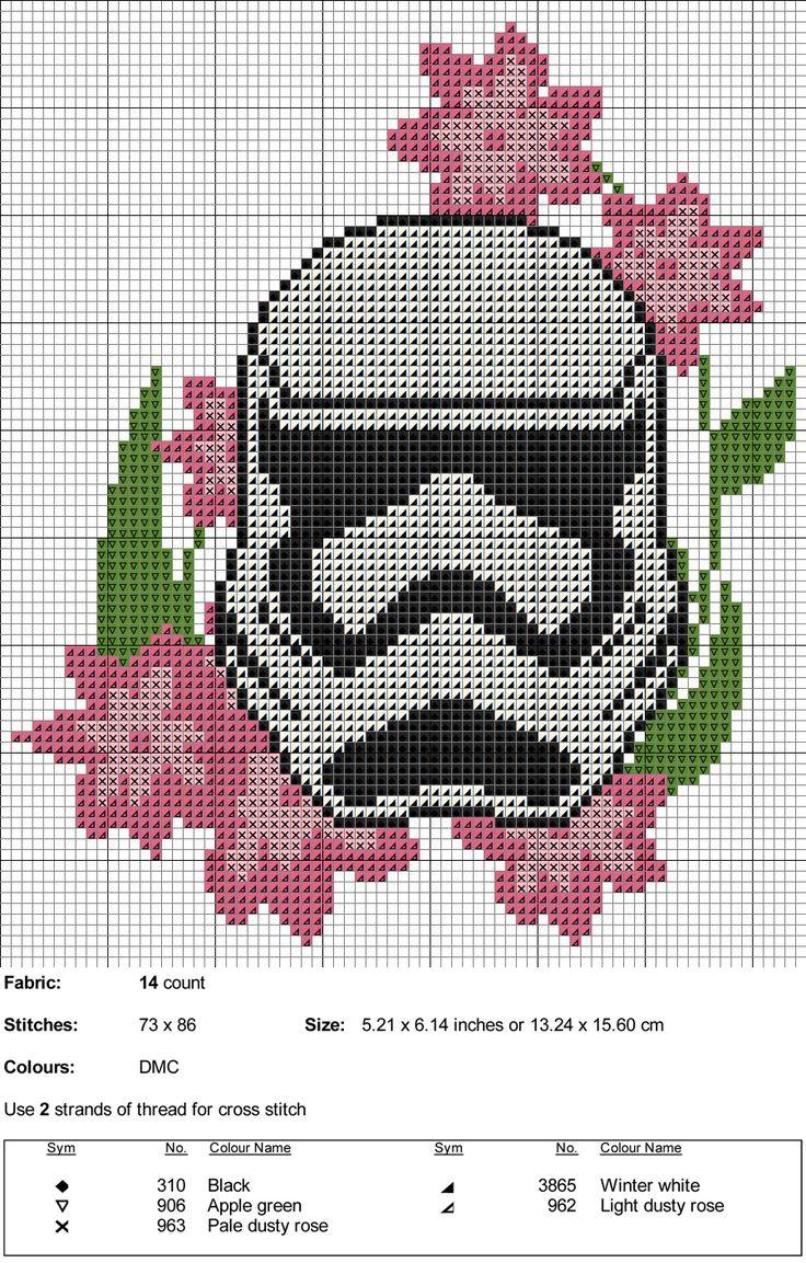 "kaplio-cross-stitch-maker: ""Stormtrooper Cross Stitch Pattern """