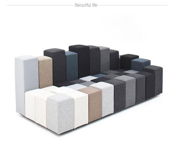 Le canapé de design original Do-Lo-Rez conçu par Ron Arad est une combinaison intéressante de formes et couleurs. Découvrez cette proposition atypique !