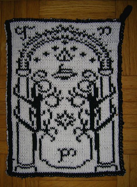 Free knitting pattern chart Doors of Durin - Moria Gate Chart by Andrea Krüß-Anders inspired by Lord of the Rings