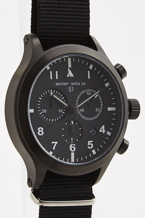 MIL-TEC III PVD Military Pilots Chronograph Watch with Interchangeable Straps - Military Watch Company - Watches : JackThreads