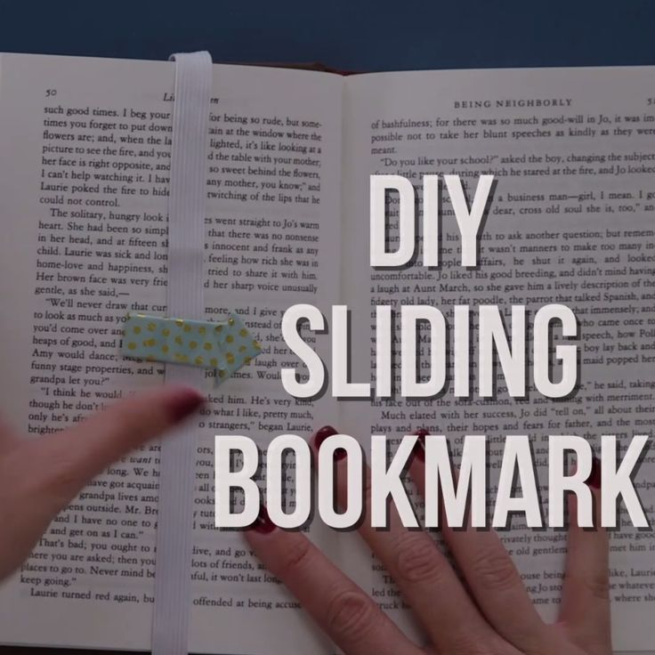 DIY Sliding Bookmark - Never Lose Your Place Again!