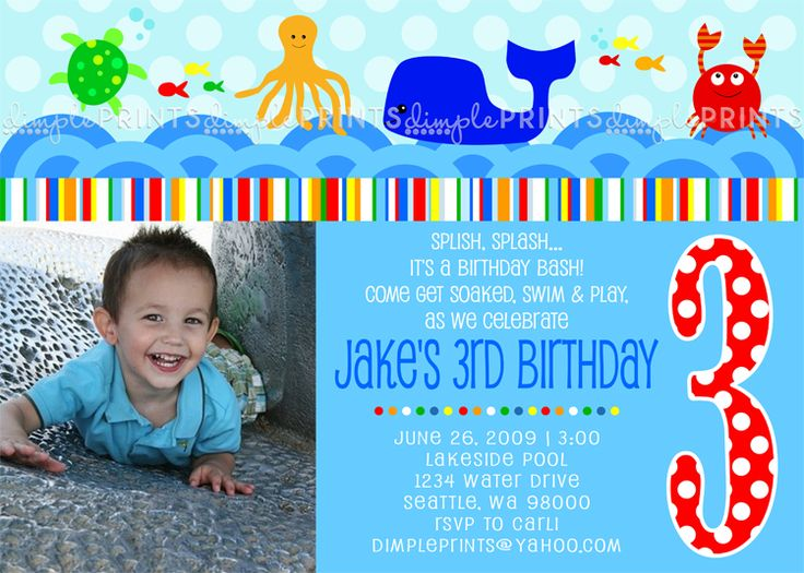 23 best images about Under the Sea birthday theme – Sample Invitation for Birthday