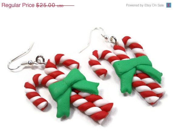 Holiday Sale Fun Polymer Clay Christmas by lifetimeofhandmade, $20.00