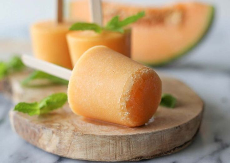 3 Ingredient Cantaloupe Popsicles
