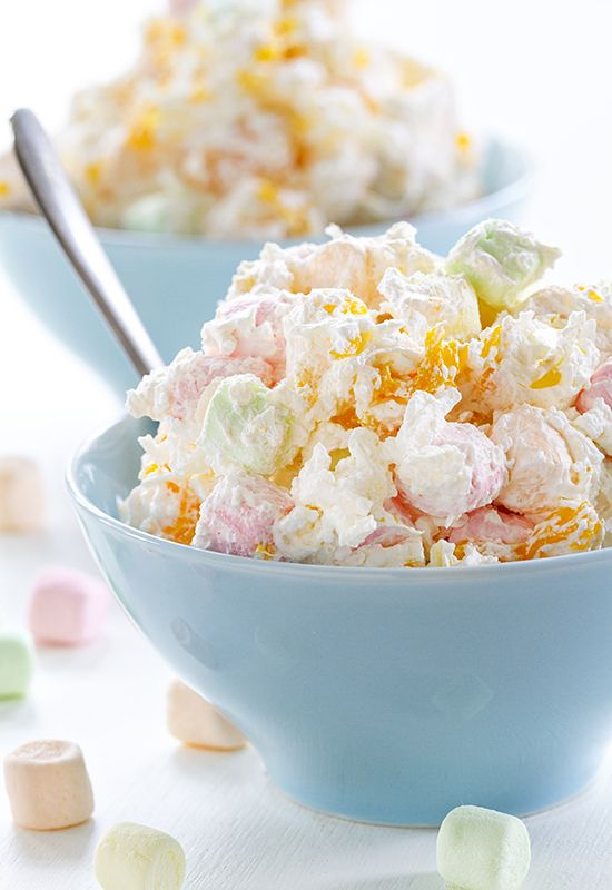 <p>1 (10-1/2 oz) bag of Campfire® Mini Marshmallows (fruit)<br /> 1 can (11 oz) mandarin orange segments, drained<br /> 1 can (8 oz) pineapple chunks in juice, drained<br /> 1 medium banana, peeled and sliced<br /> 1 cup flaked coconut<br /> 1/2 cup dairy sour cream<br /> 1/2 cup whipping cream, whipped</p>
