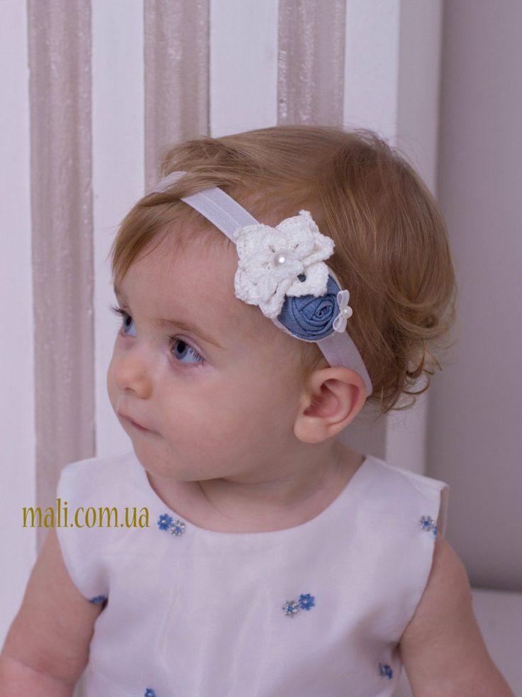 Denim baby headband | Newborn headband | Headband for babies | Baby head band | White baby headband | Baby hair band|Infant headband by beAngels on Etsy