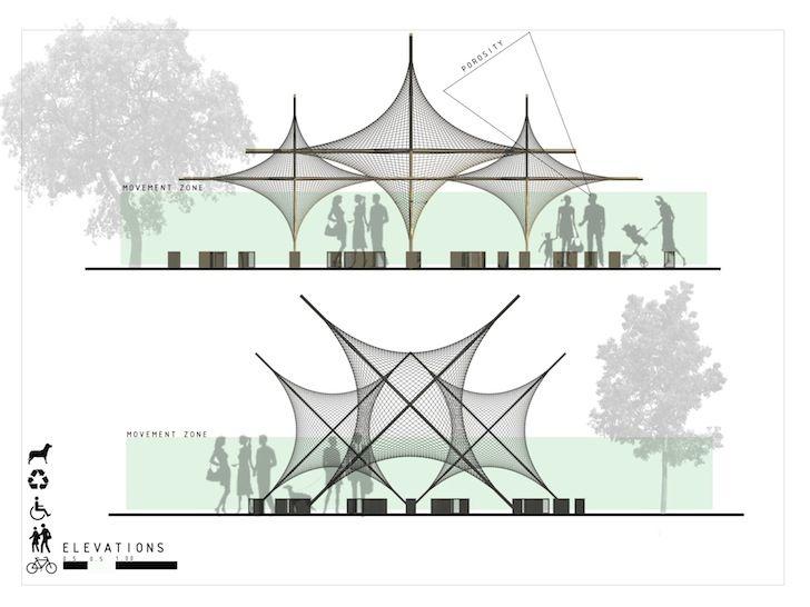 Modular Stars Pavilion enhances the urban fabric with minimal environmental impact…