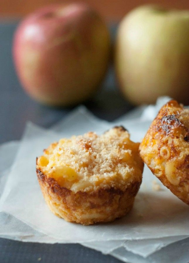 Bake up these macaroni and cheese cups in a muffin tin.