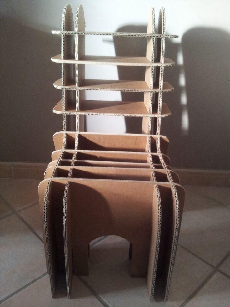 Chaise enfant en carton - Les Cartons de Corinne meubles en carton