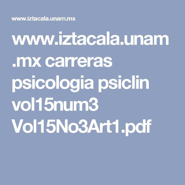 www.iztacala.unam.mx carreras psicologia psiclin vol15num3 Vol15No3Art1.pdf