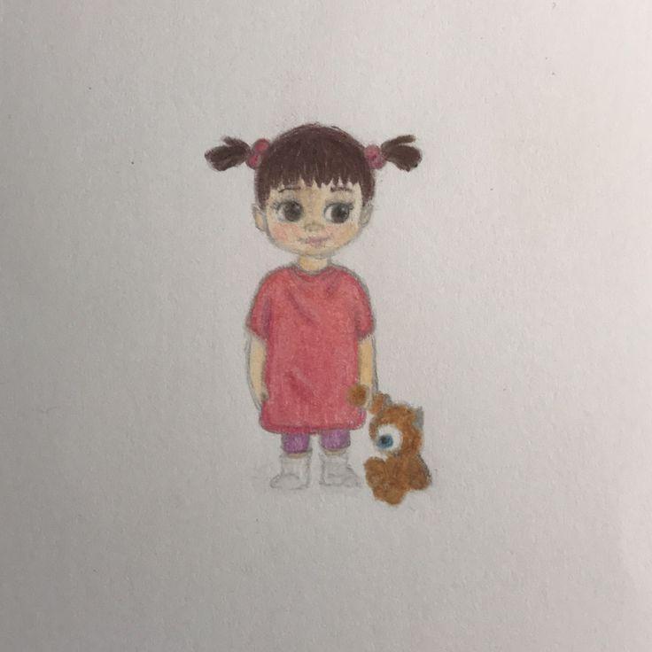 Boo Monsters inc, Disney drawing