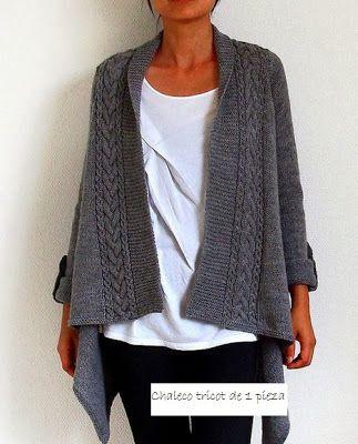 Patrones Crochet: Chaleco Tricot de 1 sola pieza
