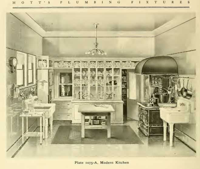 170 best early 1900s kitchens images on pinterest for Modern victorian kitchen design