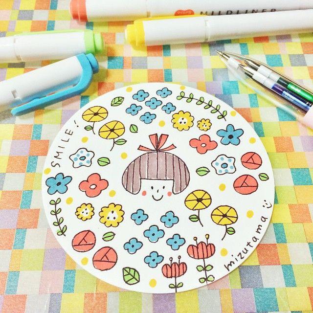花だらけ #mizutamaお絵描きコースター